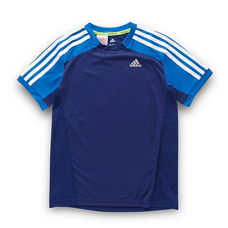 adidas - Boy+s navy logo t-shirt