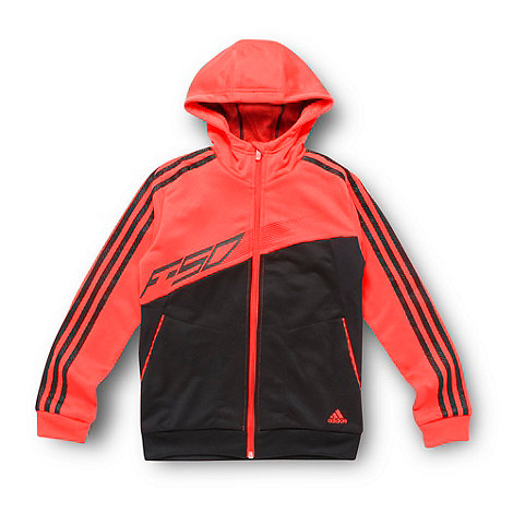 adidas - Boy+s black zip through hoodie