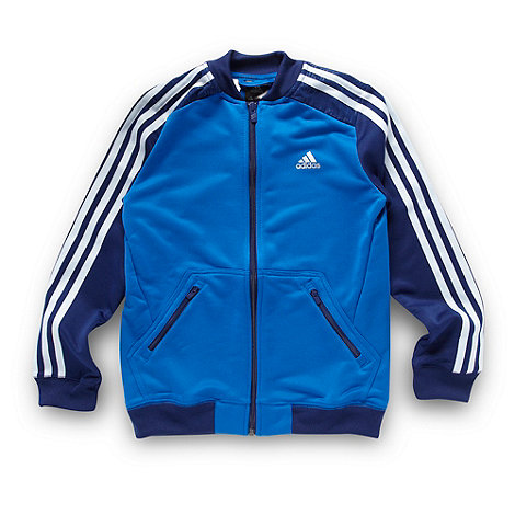 adidas - Boy+s blue zip through top