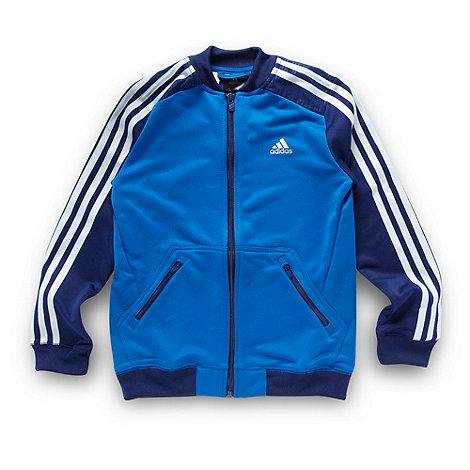 adidas - Boy+s blue zip through top