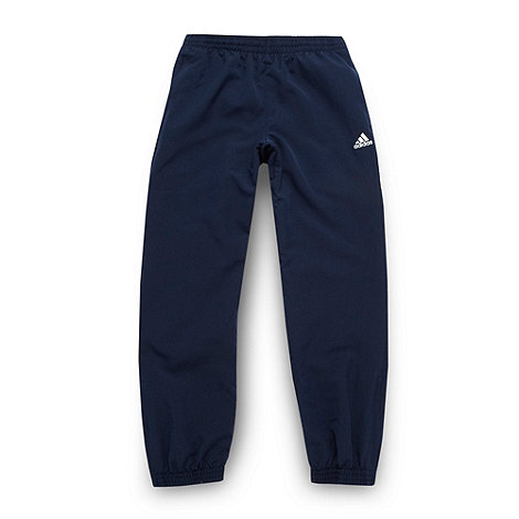 adidas - Boy+s navy woven jogging bottoms