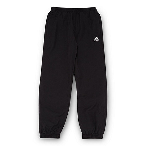 adidas - Boy+s black woven jogging bottoms