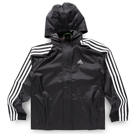adidas - Boy+s black rain jacket