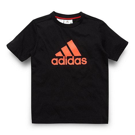 adidas - Boy+s black logo t-shirt
