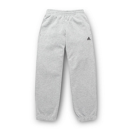 adidas - Boy+s grey essential jogging bottoms