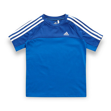 adidas - Boy's blue cut and sew t-shirt