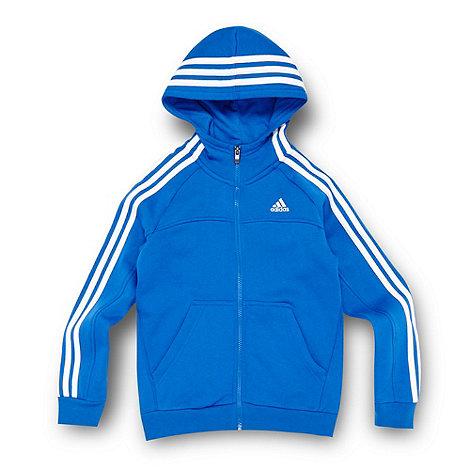 adidas - Boy+s blue essential hoodie