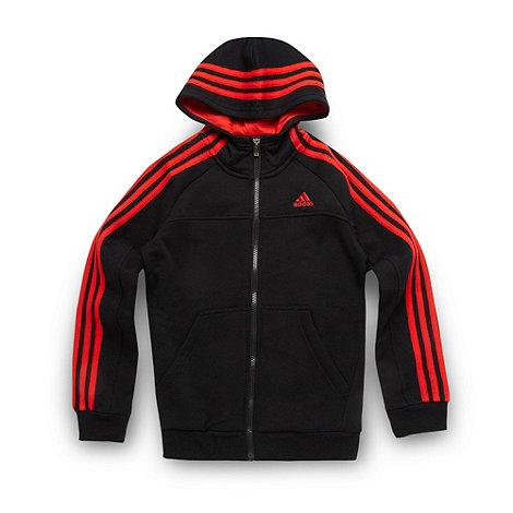 adidas - Boy+s black fleece lined hoodie