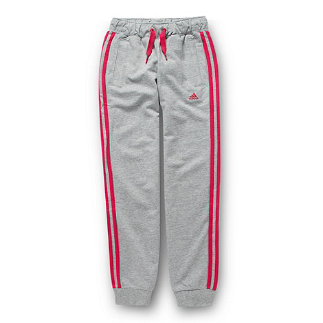 adidas - Girl+s grey jogging bottoms