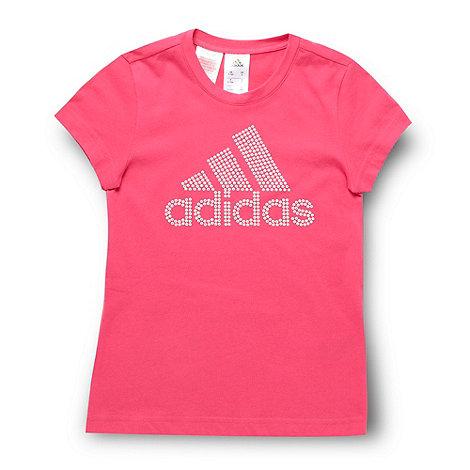 adidas - Girl+s pink studded t-shirt
