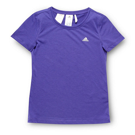 adidas - Girl+s purple logo printed t-shirt