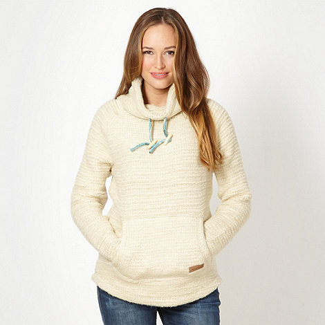 Weird Fish - Cream textured knit sweat top