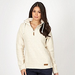 Weird Fish - Cream textured funnel neck macaroni sweatshirt