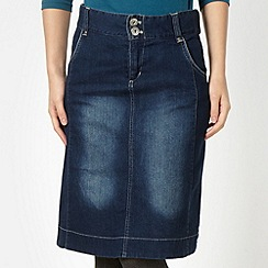 Weird Fish - Blue high waisted denim skirt