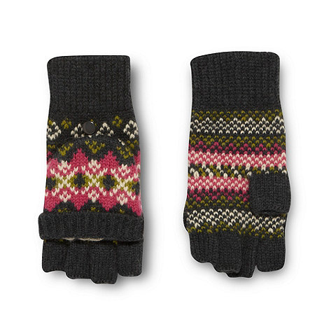 Weird Fish - Dark green fairisle gloves