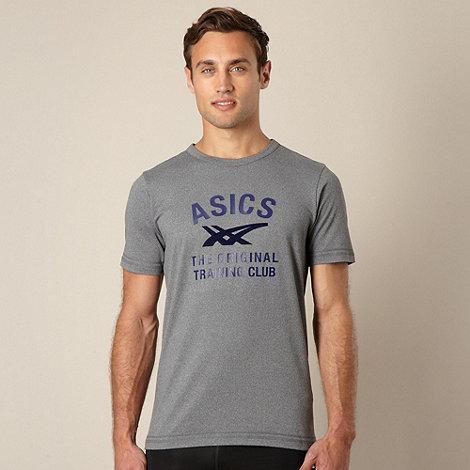 ASICS - Grey logo performance t-shirt