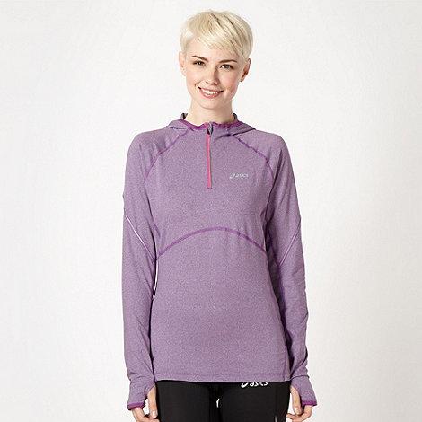 ASICS - Purple half zip running hoodie