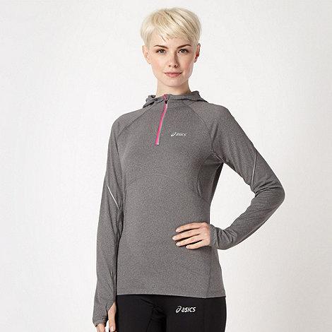 ASICS - Grey half zip running hoodie
