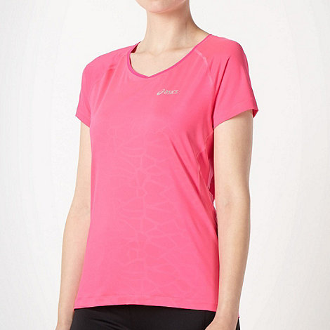ASICS - Pink meshed back sports t-shirt