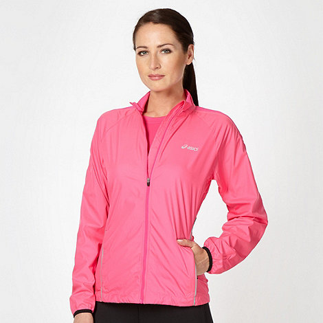 ASICS - Pink zip through running jacket