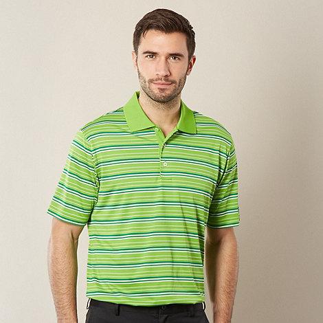 adidas - Lime multi striped polo shirt