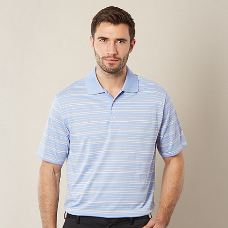 adidas - Light blue multi striped polo shirt