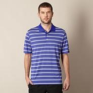 Blue striped embroidered polo shirt
