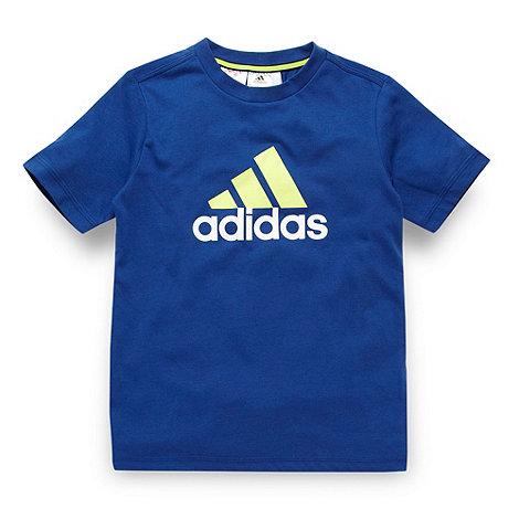adidas - Boy+s blue logo t-shirt