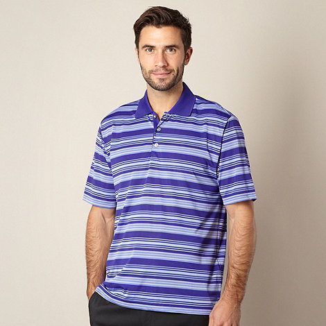 adidas - Purple striped performance polo shirt