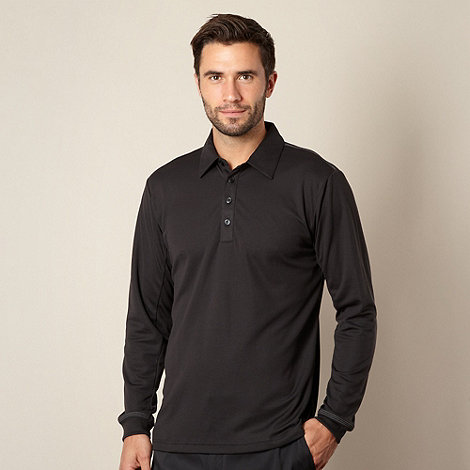 adidas - Black pique polo shirt