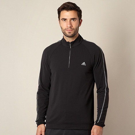 adidas - Black funnel neck pull over