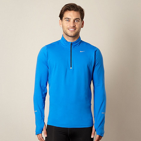 Nike - Blue half zip top