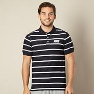 Nike navy thin striped pique polo shirt