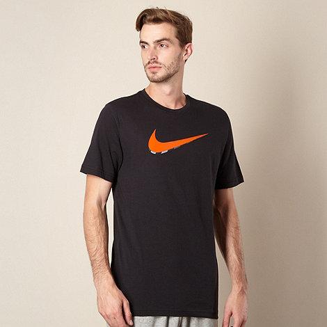 Nike - Black layered logo print t-shirt
