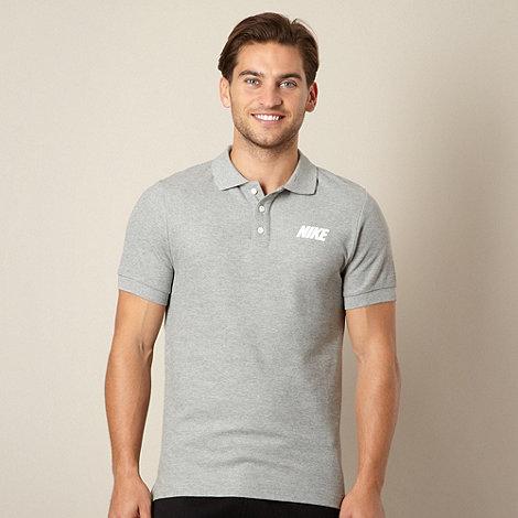 Nike - Grey pique polo shirt