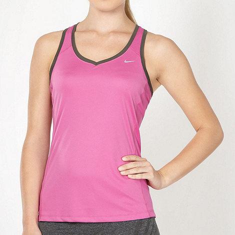Nike - Pink +Miler+ tank top