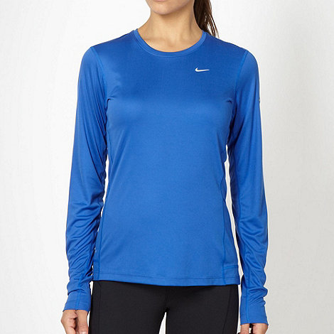 Nike - Blue +Miler+ top
