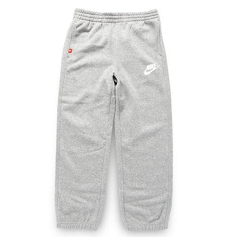 Nike - Boy+s grey jogging bottoms