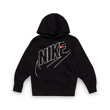 Nike - Boy+s black logo hoodie