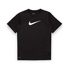 Nike - Boy's black 'Legend' logo t-shirt
