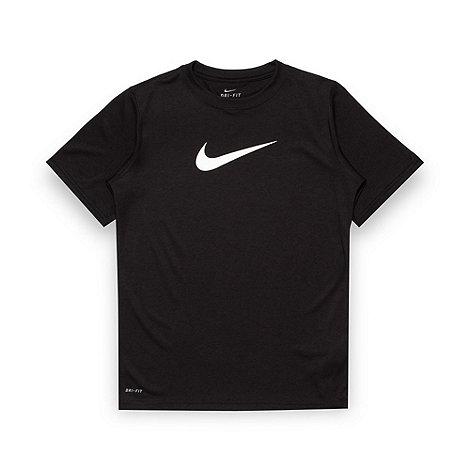 Nike - Boy+s black +Legend+ logo t-shirt