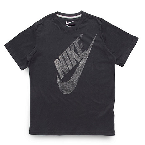 Nike - Boy+s black logo t-shirt