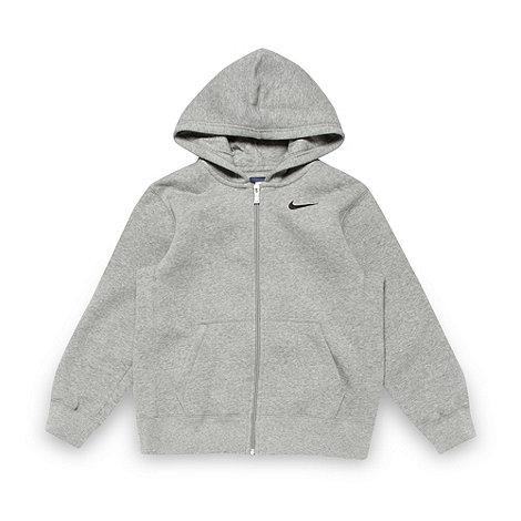 Nike - Boy+s grey fleece lined hoodie