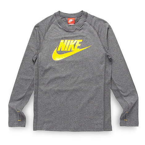 Nike - Boy+s grey logo t-shirt