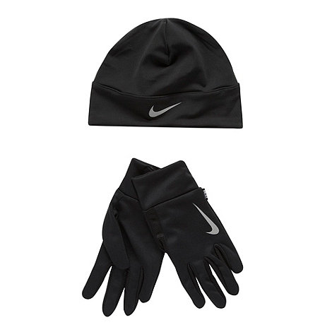 Nike - Black beanie and gloves set