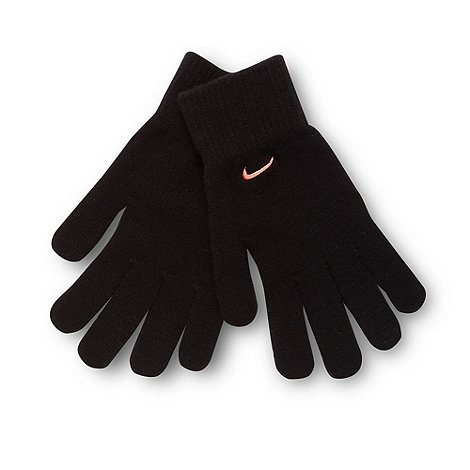 Nike - Black knit logo gloves