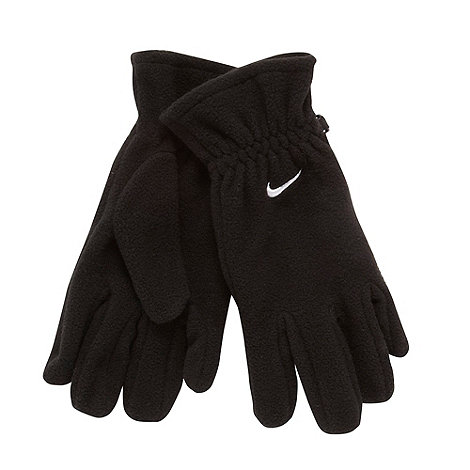 Nike - Boy+s black fleece gloves