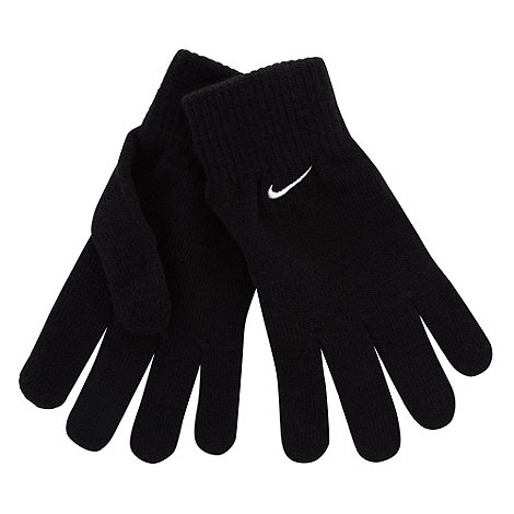 Nike - Black knitted running gloves