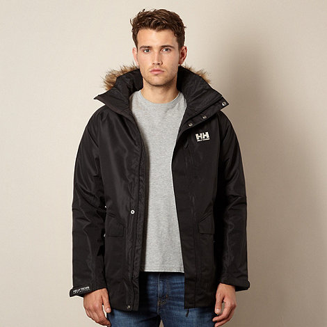 Helly Hansen - Black faux fur trimmed parka jacket