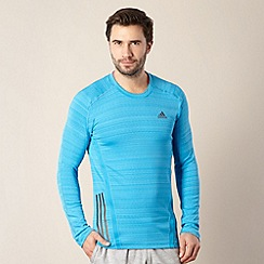 adidas - Blue long sleeved logo stripe top